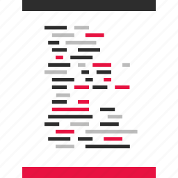 developing, document, language, script icon