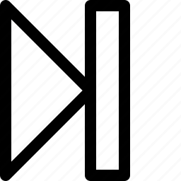forward, one, track icon