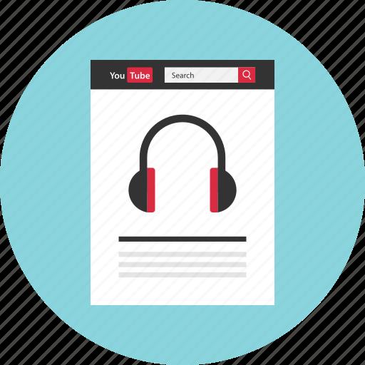 audio, beat, internet, music, player, web icon