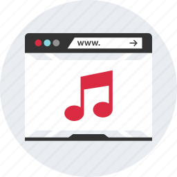 browser, internet, music, online, web, www icon