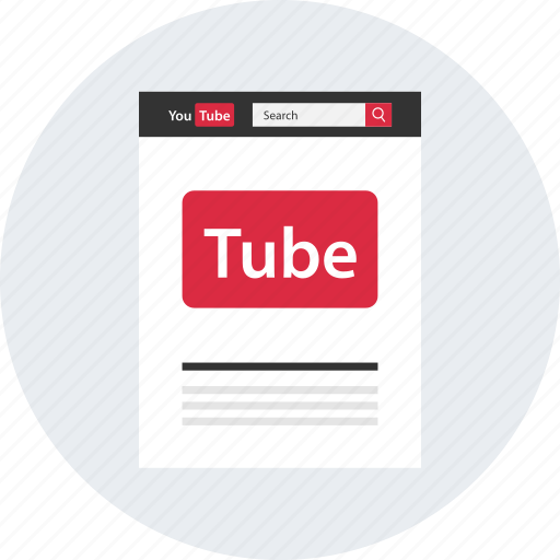 channel, homepage, search, tube, upload, video icon