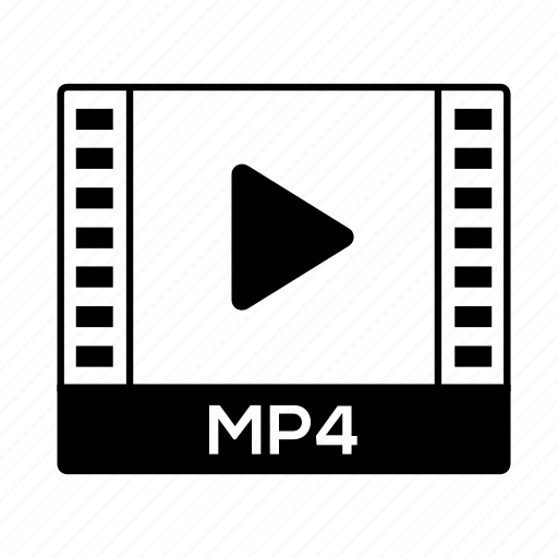 film, format, movie, mp4, video icon