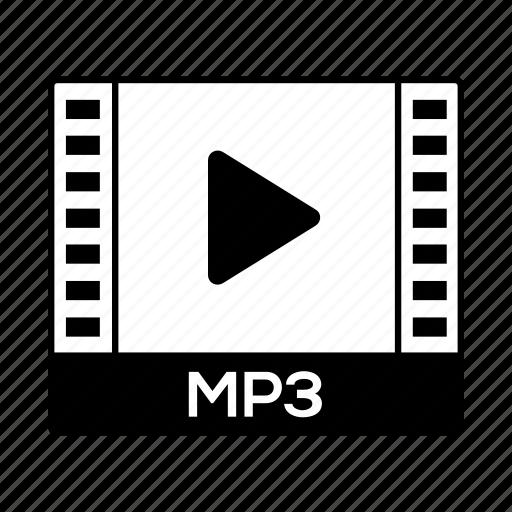 film, format, mp3, music, sound icon