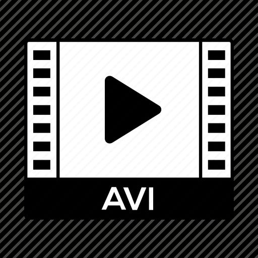 avi, film, format, movie, video icon