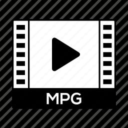 film, format, movie, mpg, video icon