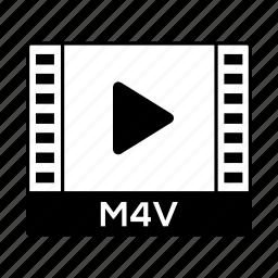 film, format, m4v, movie, video icon