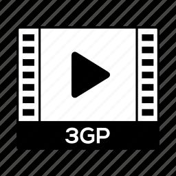film, format, movie, threegp, video icon