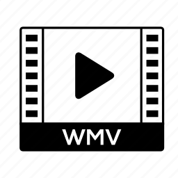 film, format, movie, video, wmv icon