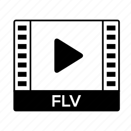film, flv, format, movie, video icon