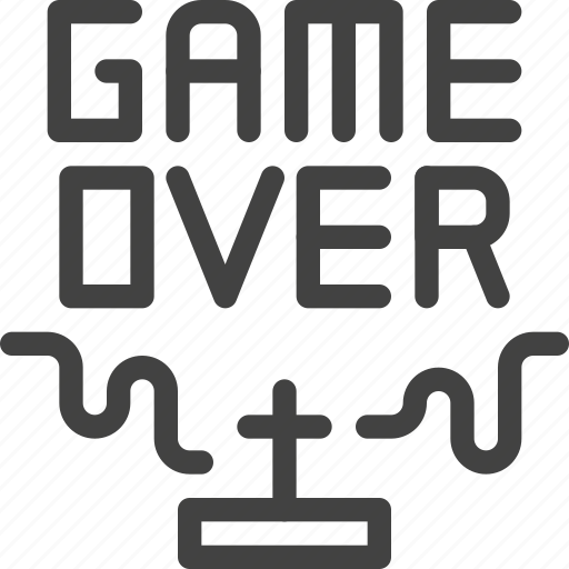 Die End Finish Game Over Play Video Icon