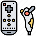 controller, game, play, remote, wireless icon