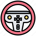 car, drive, game, joystick, steering icon
