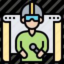 entertainment, game, simulation, virtual, vr icon