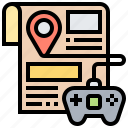 game, guide, training, trick, walkthrough icon