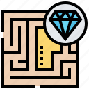 exit, game, labyrinth, maze, way icon