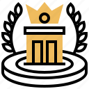 award, complete, mission, trophy, winner icon