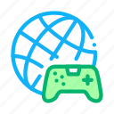 coding, developing, game, phone, playing, video, worldwide icon