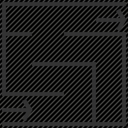 location, maze, navigation, way icon