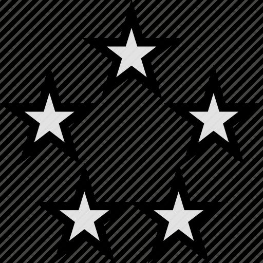 five, gaming, retro, stars icon
