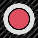 gaming, hit, retro, spot icon