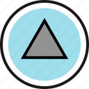 gaming, play, retro, triangle icon