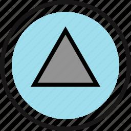 gaming, play, retro, triangle icon