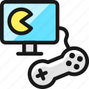 video, game, controller, monitor