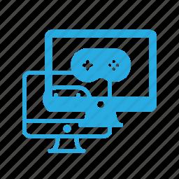 computer, desctop, game, play, video icon