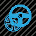 drive, game, play, simlator, video, wheel icon