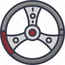 car, vehicle, steering, wheel, transport, transportation icon