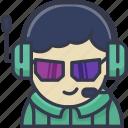 avatar, boy, gaming, man, person, profile, user