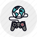 game, gaming, internet, multiplayer, online, play, playing icon