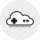 cloud, game, gaming, online, service, streaming, video icon