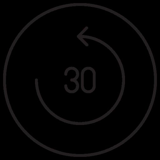 15 sec, 30 sec, fast forward, forward, movie, multimedia, video icon
