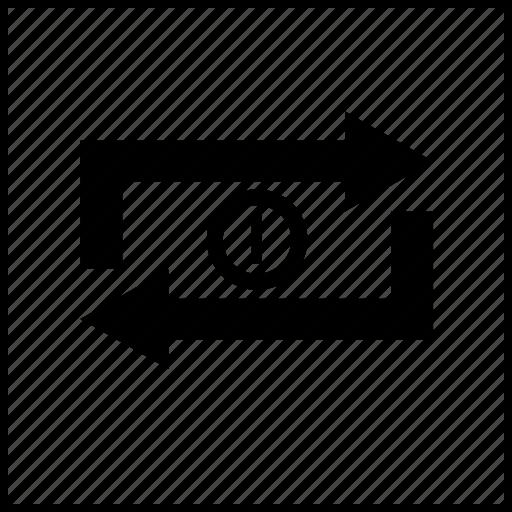 arrow, arrows, box, loop, one, player, video icon