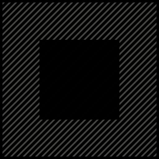 box, player, square, stop, video icon