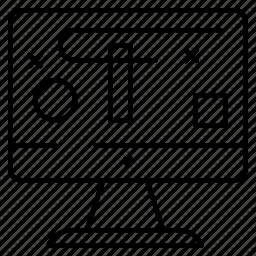 computer, design, display, graphics icon