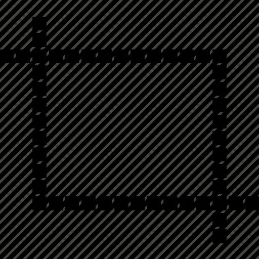 aspect, cinema, crop, cut, movie, ratio, video icon
