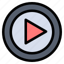control, multimedia, music, play, player icon
