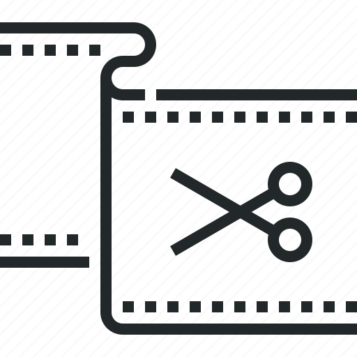Clip Cut Edit Editing Montage Movie Stripe Icon