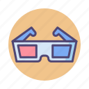 3d, 3d glasses, glasses icon