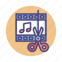 audio, audio editing, editing icon