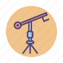 camera, camera crane, crane