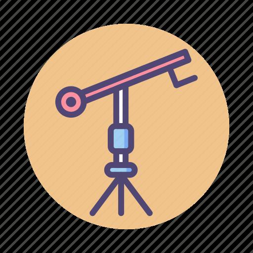 camera, camera crane, crane icon