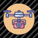 camera, camera drone, drone icon