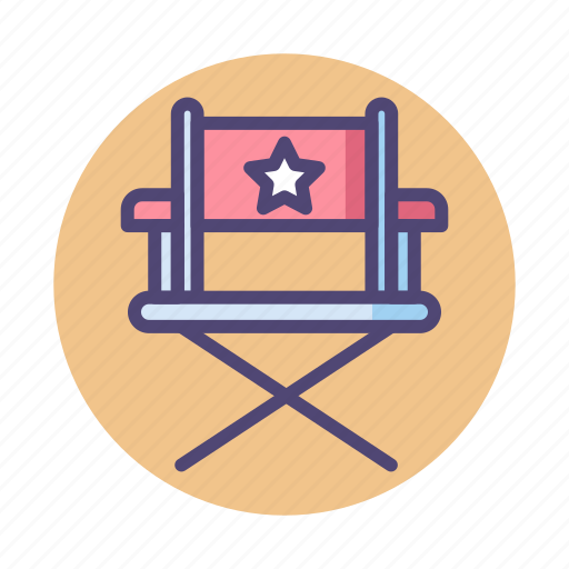 chair, director, director chair, producer chair icon