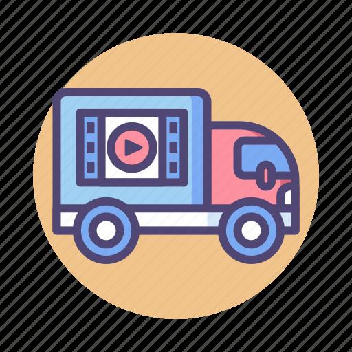 distribution, film, film distribution, movie distribution icon