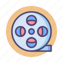 film, film reel, reel icon
