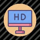 film, hd, hd movie, hd video, high definition icon