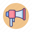 advertising, loudspeaker, megaphone, shoutout icon